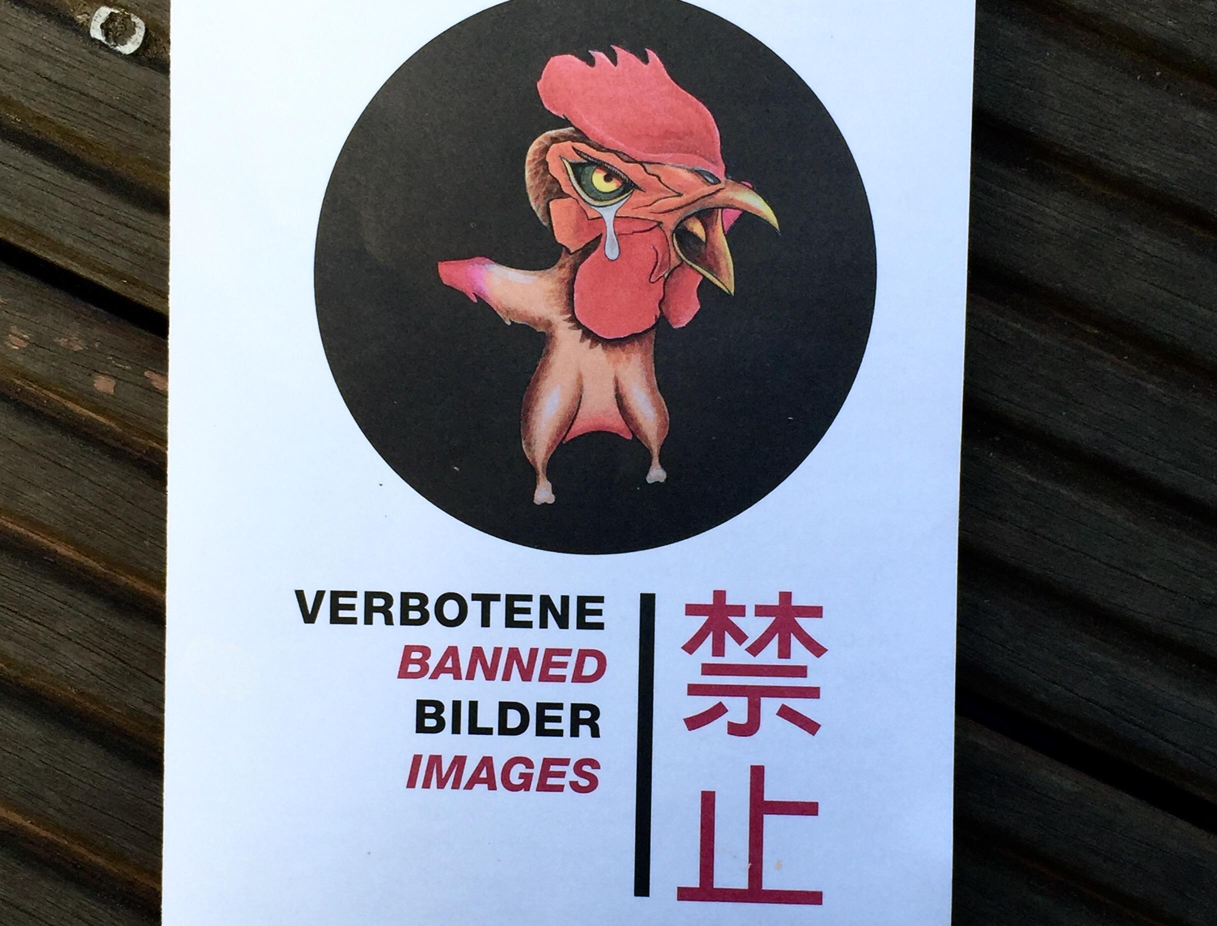 Flyer Austellung Verbotene Bilder