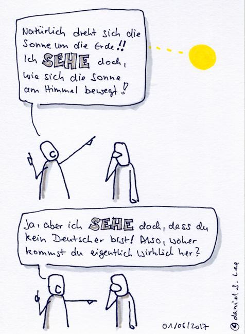 Cartoon: Aber ich sehe doch...